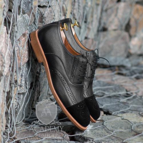 Броги кожаные комбинированные Suitium B9930