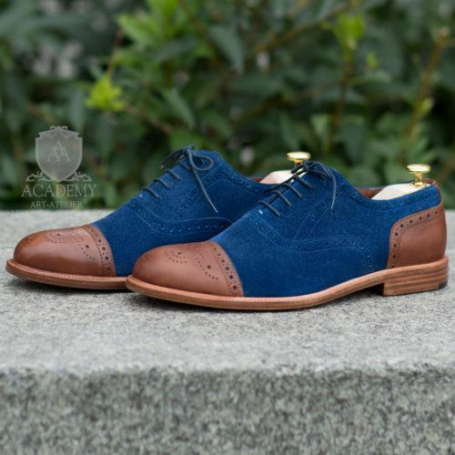 Броги замшевые с кожаным носком и пяткой Suitium B9933