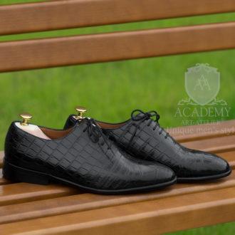 Туфли классические Academy T9920 из кожи крокодила