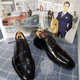 Туфли классические Academy T9921 с отделкой из кожи крокодила