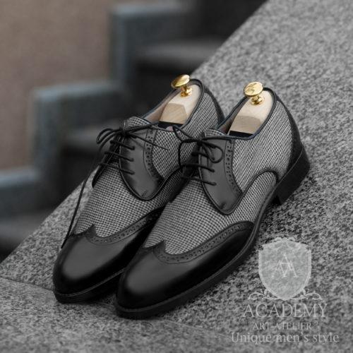 Туфли классические Academy T9922 с отделкой из ткани