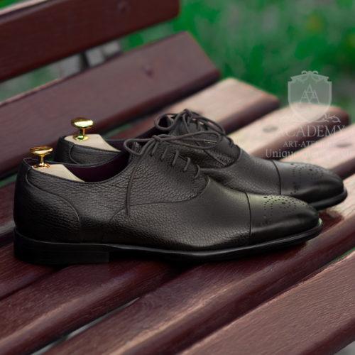Оксфорды кожаные комбинированные Suitium Т9924