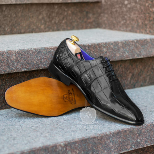 Туфли Academy T9026 из кожи крокодила