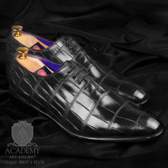 Туфли Academy T9026 из кожи крокодила.