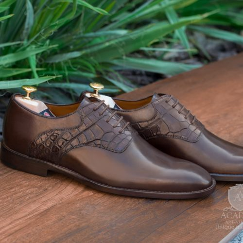Оксфорды кожаные комбинированные ACADEMY T9926