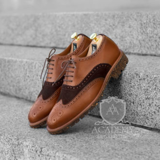 Броги зимние кожаные комбинированные Sutium B9935