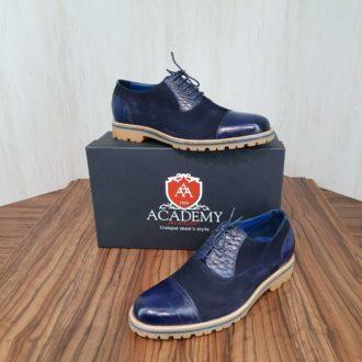 Оксфорды замшевые комбинированные Academy Т9023