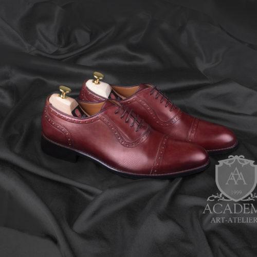 Оксфорды кожаные бордовые ACADEMY T9920