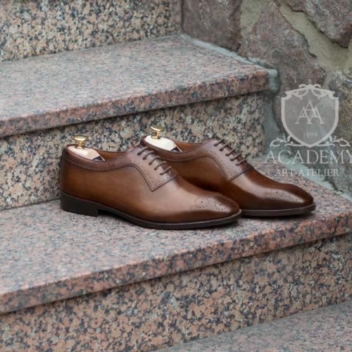 Оксфорды кожаные коричневые ACADEMY T9921