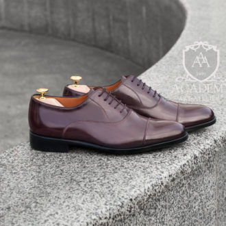 Кожаные оксфорды цвета Бордо ACADEMY T9928